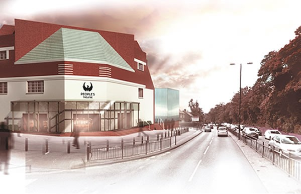 An artist's rendition of the new People's Theatre building