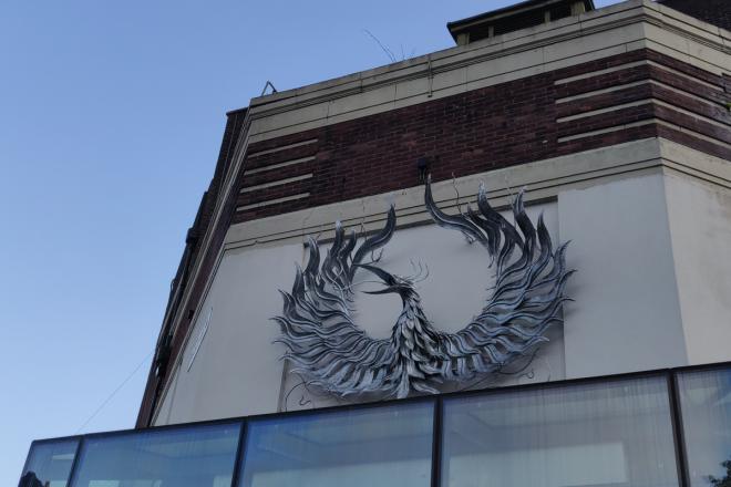Our phoenix sculpture