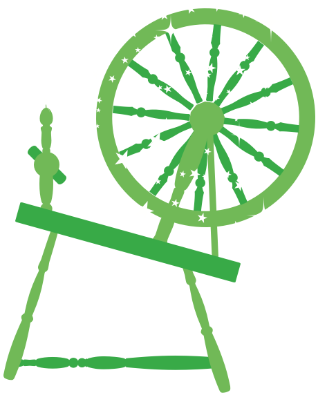 A old-fashioned spinning wheel