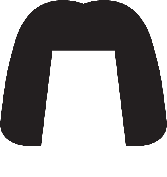 Silhouette of black shoulder length hair with a fringe and a white dog collar