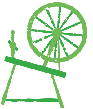 An old-fashioned spinning wheel